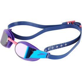 speedo Fastskin Elite Mirror Maschera, violet/blue mirror